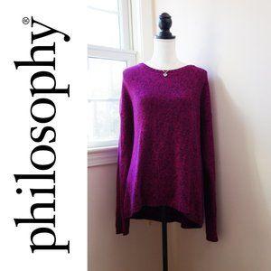 EUC, Philosophy Hot Pink Blend Cotton Sweater, XL